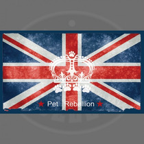 Pet Food Mat - Rebelión Cena Compañero Union Jack Máquina