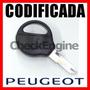 Copia Llave Codificada Peugeot 106 206 207 306 406 Con Chip