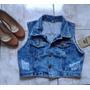Roupas Femininas / Colete Jeans / Croppet