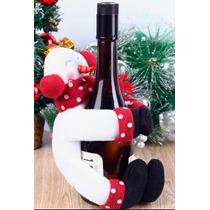 Porta Botella Navidad Regalo Decorativo Vino Muñeco De Nieve