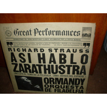 Richard Strauss -asi Hablo Zarathustra-lp Nacional Sello Cbs