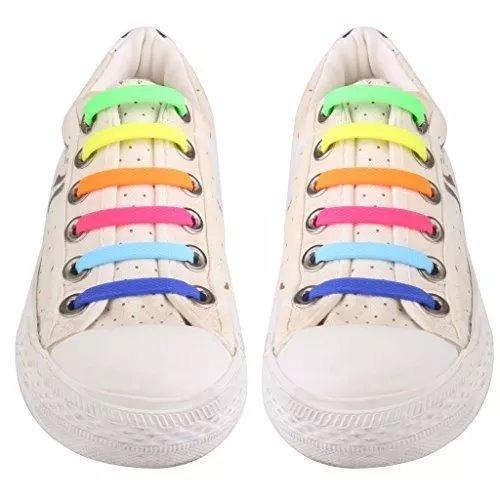Cadarço Colorido Emborrachado Para Tenis - R  22 b8a27b05189a7