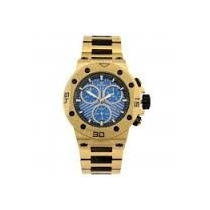 Relógio Ferrari Dourado Cronografo T12jo52b 2 Ano De Gar Nf