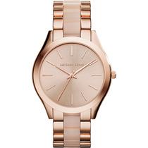 Relógio De Luxo Michael Kors Mk4194 Anal Ouro & Madré-pérola