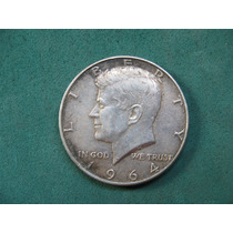 Moneda Half Dollar 1964, Estados Unidos, Km# 202, De Plata