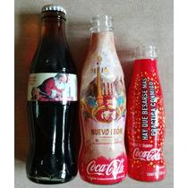 Set 3 Botellas Ltd Edit Coca Cola Navidad Nuevo Leon Hay
