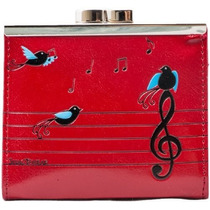 Billetera Monedero De La Mujer Shagwear Birds Red Musical