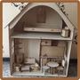 Casa Con Muebles Para Muñecas Barbie Fibrofacil