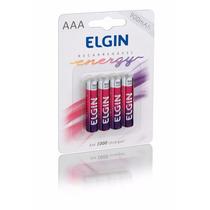 Pilhas Recarregaveis Aaa 900 Mah C/4 Elgin Melhor Preco
