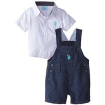 Ee.uu. Assn Polo. Camisa Del Bebé-niños Recién Nacidos A Ray