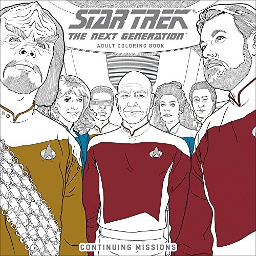 Star Trek The Next Generation Adult Coloring Book: Misiones ...