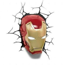 Lampara De Pared Ironman Avengers Nueva Sellada Factura