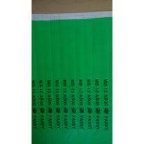Pulseras De Identificación Tyvek 350. Impresas
