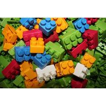 64 Peças Peças Blocos De Montar Plástico Encaixe Com Rodinha