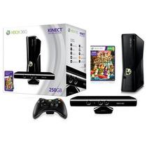 X Box 360 250gb 1 Controle, 2 Jogos E Kinect Novo Original