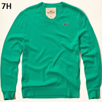 L - Sueter Hollister Verde Ropa De Hombre 100% Original