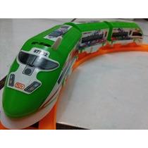 Trem Bala Elétrico Locomotiva Trilhos Brinquedo Qualidade