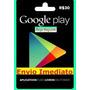 Cartão Google Play Store Brasil Android R$30 Envio Imediato