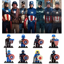 Kit Super Heroes Marvel - Capitão América - 8 Minifigures