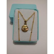 Medalla Virgen Para Bautizo De 1cm De Oro Laminado