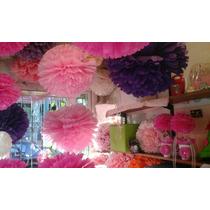 Pompones Y Flores De Papel Seda $40