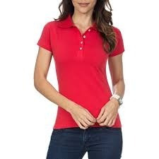 2e68c27ea Camisa Polo Feminina Vermelha Lisa - P-m-g-gg - R  44