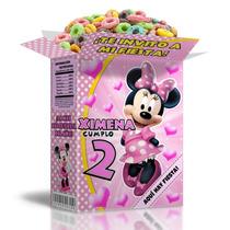 Kit Imprimible Minnie Rosa Powerpoint Editable 3 Invitacion