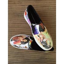 Sneakers De Goma Estampados Tipo Mocasin Para Dama