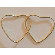 Brinco Argola Coração Em Ouro 18k,com Garantia.frete Grátis