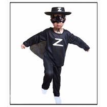 Disfraz Zorro Super Económico Nenes Fiesta Cumpleaños