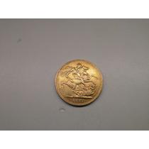 Moeda Inglaterra 1 Libra 1881 -s- Ouro 8 Gr
