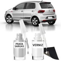 Tinta Tira Risco Automotivo Volkswagen Fox Cor Prata Sargas