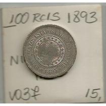 Moeda Do Brasil 100 Reis Niquel 1893 Mbc *moedasnet