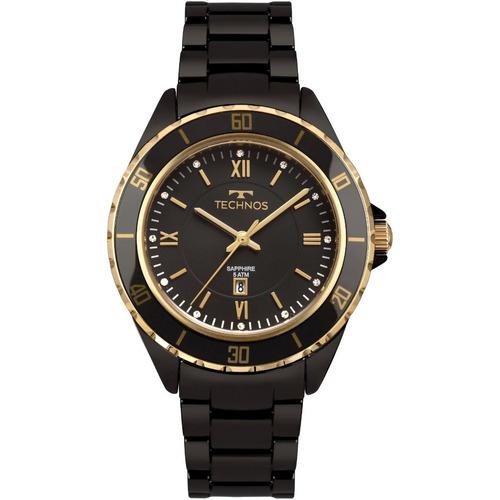 Relógio Feminino Technos 2015cao 4p 38mm Cerâmica Preta - R  542,95 em  Mercado Livre 5fc79880e7