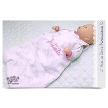 Bolsa Saco De Dormir Bebé Bordado Personalizado Pique Polar