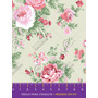 284 FLORAL ROSA FUNDO BEGE