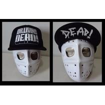 Boné Dr Living Dead Flip Hat Trucker Cap Tela Thrash Metal