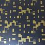390508 - Desenho Abstrato (Dourado/ Preto)