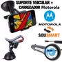 Carregador Veicular Motorola + Suporte Nextel Iron Rock I1 X