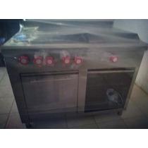 Cocina Industrial Inox Estufa Parrilla Horno Freidora