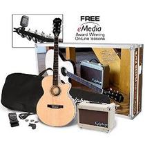 Paquete Epiphone Pr-4e-acústico De La Guitarra Eléctrica Del