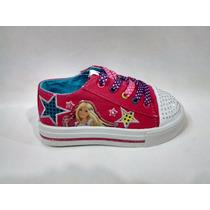 Disney Zapatillas De Lona De Barbie Con Luz Talles 23 Al 29
