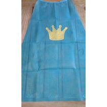 Capa Principe, Princesa Con Corona Souvenir, Disfraz