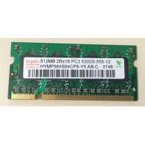 Memoria Ram De 512 Mb Ddr2 Pc2-5300s-555