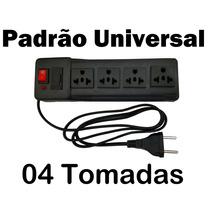 Filtro De Linha Universal / Extensão / Régua - 04 Tomadas