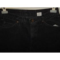 Pantalón Corto Levis (bermuda) Negra De Mezclilla Nuevo T 32