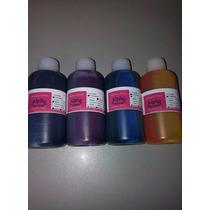 Tinta Comestível Para Impressoras-400ml (100ml P/cor)+brinde