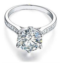 Anillo De Compromiso De Plata Con Diamante De Laboratorio