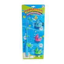 Brinquedo Infantil Pesca Pega Peixe Super Stars Varinha