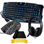 Kit Gamer Teclado + Mouse 3200 Dpi + Fone Headset Barato K28